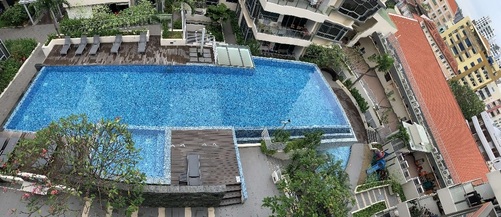 Spacious room with pool view & new mattress @Aljunied (all-inclusive); bright, quiet; no agent fee - Aljunied 阿裕尼 - 分租房间 - Homates 新加坡